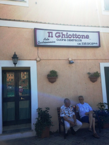 Geezers outside Il Ghiottone