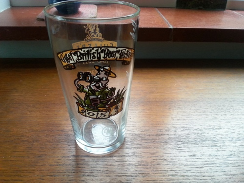 Great British Beer Festival glass