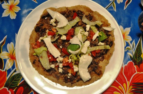 Tlayuda, the so-called Mexican pizza