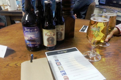Harveys beer tasting