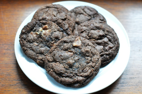 Quintuple chocolate chip cookies