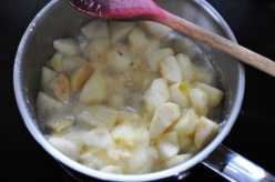 Bramley apples, stewed