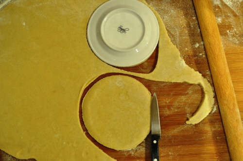 Roll pastry and cut discs