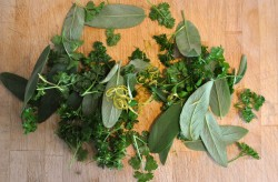 Parsley, sage and lemon zest