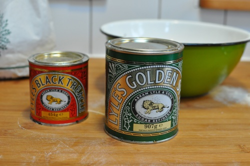 Black treacle and golden syrup
