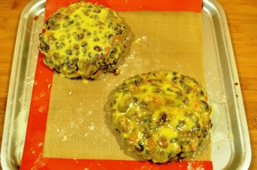 Unbaked pangiallo, with saffron glaze