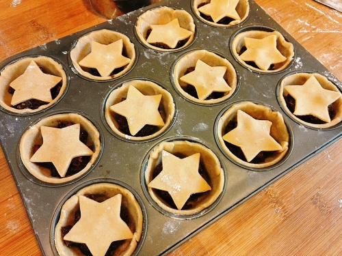 Fill the pies and top with stars