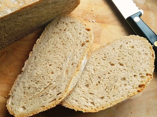 Barm bread crumb shot