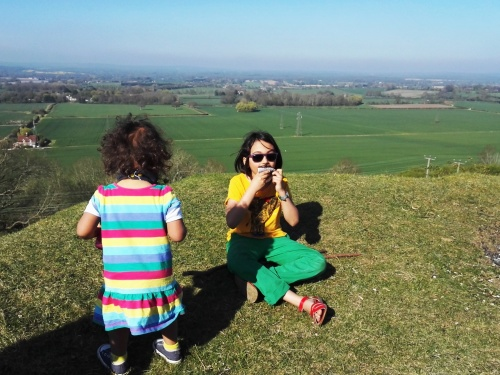 Enjoying on the South Downs