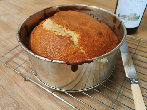 Madeira cake in tin