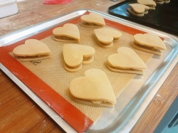 Small heart figolli ready to bake